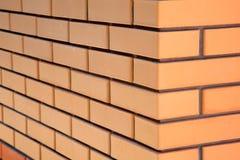 Brick wall in a corner Stock Photo