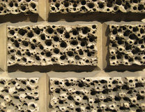 Brick wall with the corrosion design Stock Photography
