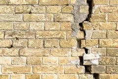 Brick wall with  crack Royalty Free Stock Photos