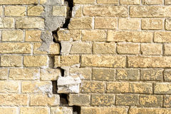 Brick wall with  crack Royalty Free Stock Image