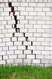 Brick wall with a crack. For your design Royalty Free Stock Image