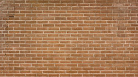 Brick wall with a crack at the left side Royalty Free Stock Photo