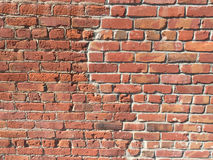 Brick wall with crack patch Royalty Free Stock Image