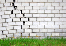 Brick wall with a crack Royalty Free Stock Photography