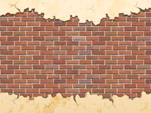 Brick wall and cracked concrete Royalty Free Stock Photography