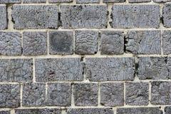 Brick wall with cracked surface. Horizontal photo Royalty Free Stock Image