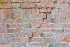 Brick wall cracking Royalty Free Stock Image