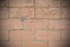 Brick wall with cracks Royalty Free Stock Photos
