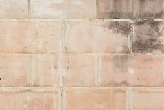 Brick wall with cracks Royalty Free Stock Photo
