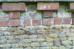 Brick wall craftsmanship. royalty free stock image