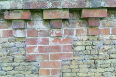 Brick wall craftsmanship. royalty free stock images