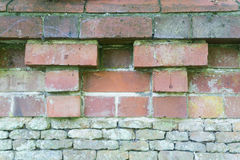 Brick wall craftsmanship. stock photo