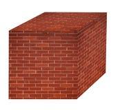 Brick wall  cube  Royalty Free Stock Image
