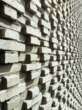 Brick wall in 3d effect. Grey color photo of a old brick close up on the wall in 3 D efe Stock Image