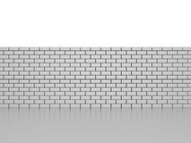 Brick Wall. 3D image of brick wall on white background Stock Photos