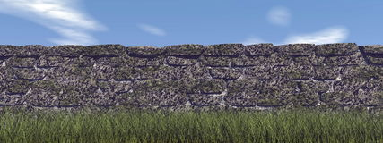 Brick wall - 3D render Stock Photo