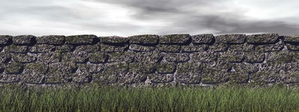 Brick wall - 3D render Royalty Free Stock Images