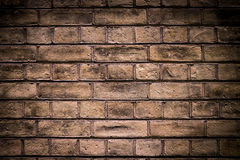 Brick wall dark Royalty Free Stock Photo