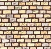 Brick wall on dark seamless pattern drawing Royalty Free Stock Photo