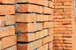 Brick wall. Decorate in coffee shop Royalty Free Stock Photos