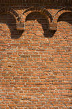 Brick wall with decorative arches Royalty Free Stock Photography