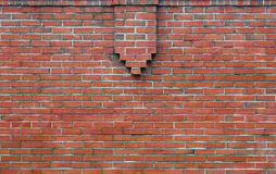 Brick wall decorative protrusion Stock Photo