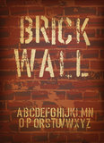 Brick wall design template. Vector Royalty Free Stock Photo