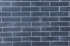 Brick wall. Detail of an  blue brick wall front texture Royalty Free Stock Photography