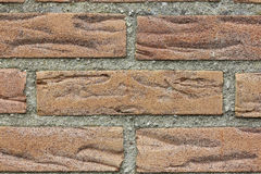 Brick wall. A detailed illustration of red bricks with gray fugue Stock Photo