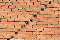 Brick wall diagonal Stock Images