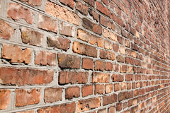 Brick wall in a diagonal term. stock photos