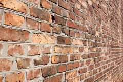 Brick wall in a diagonal term. royalty free stock photo