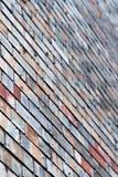 Brick wall. Diagonally photographed brick house wall Royalty Free Stock Image