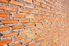 Brick wall with diminishing perspective Stock Images