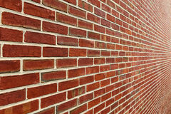 Brick Wall With Diminishing Perspective Royalty Free Stock Photo
