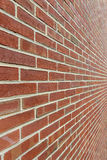 Brick Wall With Diminishing Perspective Royalty Free Stock Images