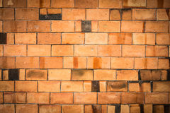 Brick wall dirty weathered texture Stock Images