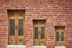 Brick Wall And Door Stock Photography