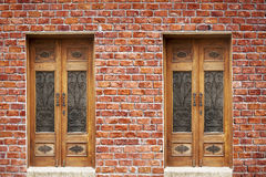 Brick Wall And Door Royalty Free Stock Photos