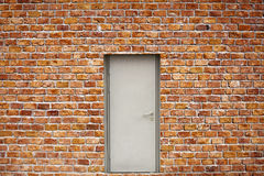 Brick Wall And Door Stock Images