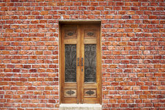 Brick Wall And Door Royalty Free Stock Image