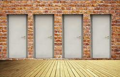 Brick Wall And Doors Royalty Free Stock Photo