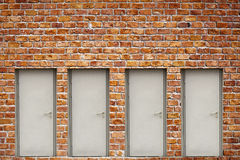 Brick Wall And Doors Royalty Free Stock Photos