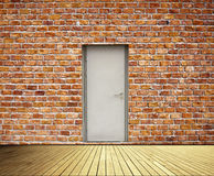Brick Wall And Doors Royalty Free Stock Photos