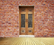 Brick Wall And Doors Stock Image