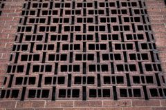Brick wall in Downtown Denver stock photo