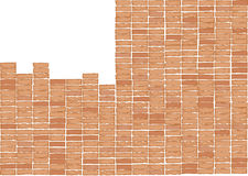 Brick wall .Drawing Stock Photo