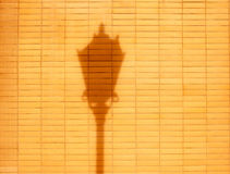 Brick wall and drop shadow from  street lamp Stock Photography