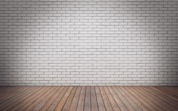 Brick wall empty room Stock Photography