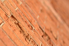 Brick wall erosion Royalty Free Stock Image